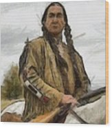 Wounded Knee Wood Print