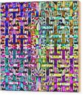 Woven Abstract Wood Print