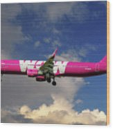 Wow Air Airbus A321-211 Wood Print