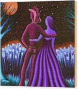 Wrangler's Moon IIi Wood Print by Brenda Higginson