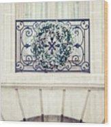 Wreath And Stone Wood Print