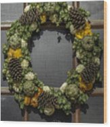 Williamsburg Wreath 21b Wood Print