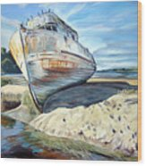 Wreck Of The Old Pt. Reyes Wood Print