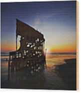 Wreck Of The Peter Iredale-b Wood Print