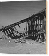 Wreck Of The Peter Iredale Wood Print