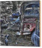 Wrecking Yard Study 13 Wood Print