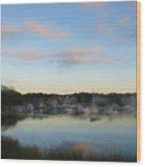 Wrentham Sunset Wood Print