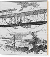 Wright Brothers Plane Wood Print