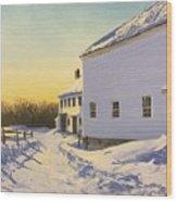 Wright-locke Farm And Squash House Wood Print