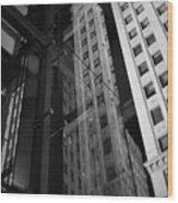 Wrigley Building Reflections Wood Print