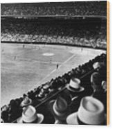 Wrigley Field, Fans Jam The Stands Wood Print by Everett