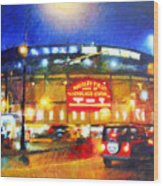 Wrigley Field Home Of Chicago Cubs Wood Print