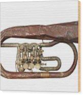 Wrinkled Old Trumpet Wood Print