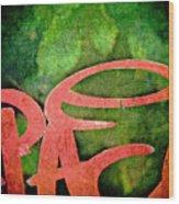 Writ Large Wood Print by Odd Jeppesen