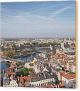Wroclaw Cityscape In Poland Wood Print