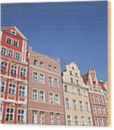 Wroclaw Old Town Houses Wood Print