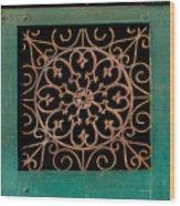 Wrought Iron Circle Wood Print