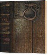 Wrought Iron Door Latch Wood Print