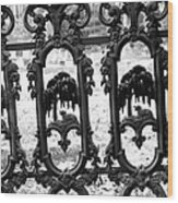 Wrought Iron Gate -west Epping Nh Usa Wood Print