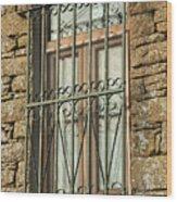 Wrought Iron - Glass - Stone Wood Print
