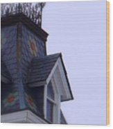 Wrought Iron Roof Top Wood Print