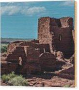 Wukoki Pueblo Ruins Wupatki National Monument Wood Print