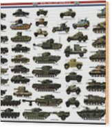 Ww2 British Tanks Wood Print by The Collectioner