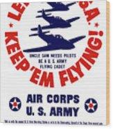Us Army Air Corps - Ww2 Wood Print