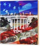 Ww2 Usa White House Wood Print