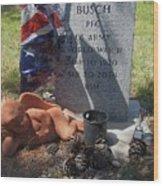 Ww2 Veterans Grave Mountain View Cemetery Casa Grande, Arizona 2004 Wood Print
