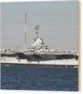Wwii Aircraft Carrier Uss Yorktown Wood Print