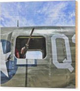 Wwii Aircraft Gun Window Wood Print