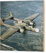 Wwii, Northrop P-61 Black Widow, 1940s Wood Print
