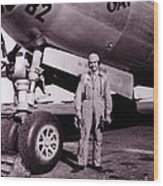 Wwii, Paul Tibbetts, Usaf Officer Wood Print