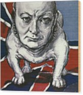 Wwii:churchill Poster 1942 Wood Print