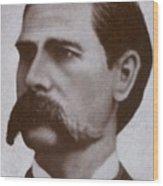 Wyatt Earp 1848-1929, Legendary Western Wood Print by Everett