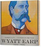 Wyatt Earp Poster Wood Print