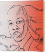 Wyclef Jean For President Of Haiti  Wood Print