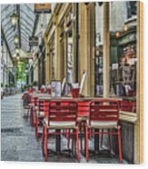 Wyndham Arcade Cafe 1 Wood Print