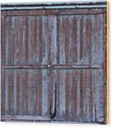 Wyoming Blue Doors Wood Print