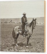 Wyoming: Cowboy, C1883 Wood Print