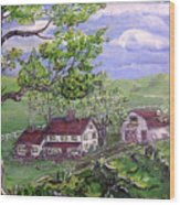 Wyoming Homestead Wood Print