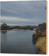 Wyoming Morning River Wood Print