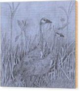 Wyoming Sandhill Cranes Wood Print