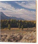 Wyoming Scenery One Wood Print