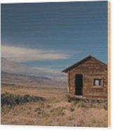 Wyoming Shack Wood Print