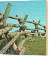 Wyoming Snow Fence Wood Print
