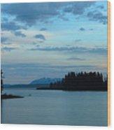 Wyoming Sunset Wood Print