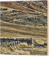 Wyoming X Wood Print
