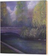 Wyomissing Creek Misty Morning Wood Print